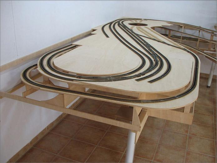 Infraestructura de una maqueta de trenes