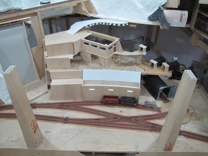Zona minera. Maqueta de trenes
