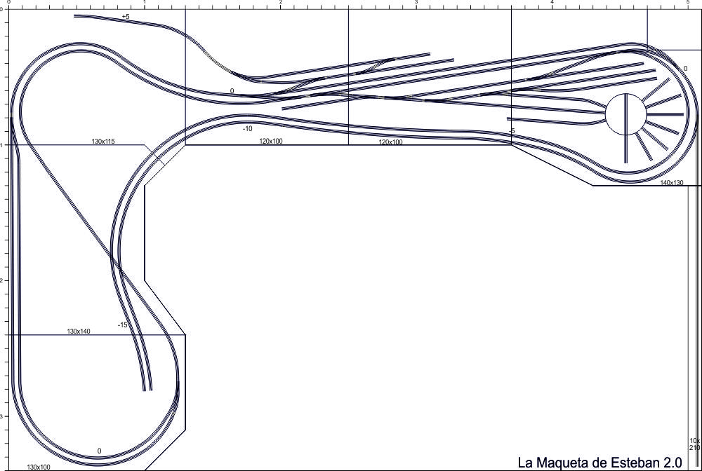 Plano estación principal maqueta de trenes