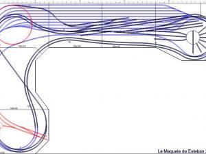 Plano general maqueta de trenes