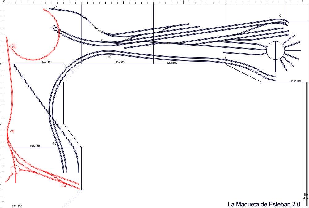 Plano zona visible maqueta de trenes
